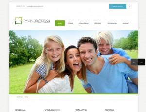 Strona internetowa dla gabinetu stomatologicznego